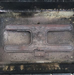 Example of a burner that needs to be replaced