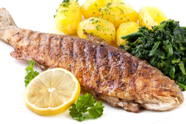 Grilled Trout with Lemon Butter