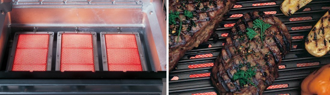 Infrared Grill Burner with SearMagic Grids