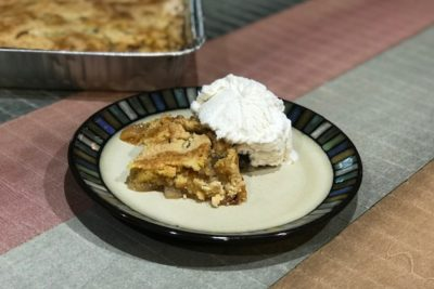 Apple Dump Cake made on your grill