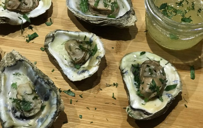 Steamed Oysters made on the grill